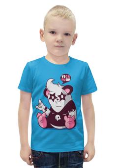 """Футболка с полной запечаткой для мальчиков """"Панда 3d"""" - панда, kiss, panda"""