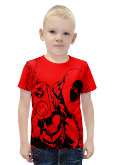 """Футболка с полной запечаткой для мальчиков """"Deadpool"""" - пистолет, комикс, deadpool, killer, дэдпул"""