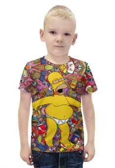 """Футболка с полной запечаткой для мальчиков """"Гомер Симпсон"""" - гомер, симпсоны, гомер симпсон, the simpsons"""