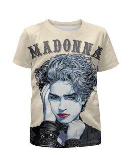 """Футболка с полной запечаткой для мальчиков """"Madonna"""" - madonna, мадонна, поп музыка, pop music, арт дизайн"""