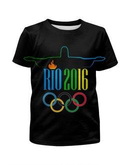 """Футболка с полной запечаткой для мальчиков """"Рио 2016"""" - спорт, олимпиада, рио, бразилия, 2016"""