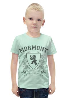"""Футболка с полной запечаткой для мальчиков """"Игра Престолов. Дом Мормонтов"""" - игра престолов, game of thrones, мормонт, house mormont, дом мормонтов"""