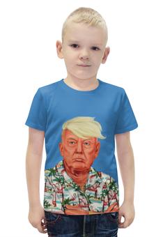 """Футболка с полной запечаткой для мальчиков """"Дональд Трамп"""" - usa, russian, дональд трамп, donald john trump"""