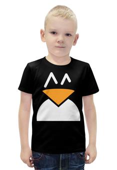 """Футболка с полной запечаткой для мальчиков """"Пингвин"""" - пингвин"""