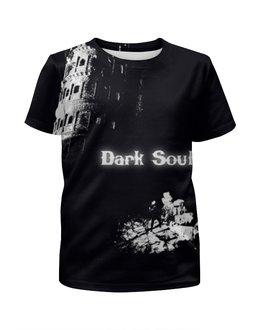 """Футболка с полной запечаткой для мальчиков """"Dark Souls"""" - white, game, black, ps, dark sousl"""