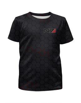 """Футболка с полной запечаткой для мальчиков """"N7 - Mass Effect"""" - игры, mass effect, n7, playstation, масс эффект"""