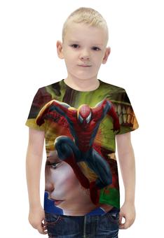 """Футболка с полной запечаткой для мальчиков """"Человек-паук / Spider-Man"""" - рисунок, комиксы, кино, паук"""