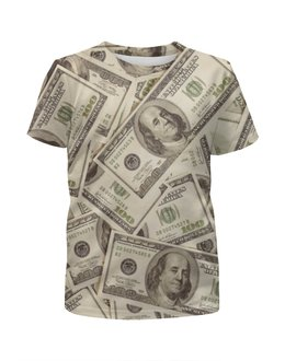 """Футболка с полной запечаткой для мальчиков """"Деньги (Доллары)"""" - деньги, money, баксы, бабки"""