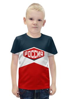 """Футболка с полной запечаткой для мальчиков """"Россия"""" - сборная россии, олимпиада рио, рио2016, олимпийская форма"""