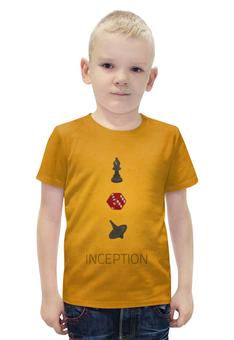 """Футболка с полной запечаткой для мальчиков """"Начало (Inception)"""" - начало, inception"""