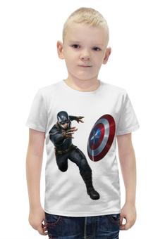 """Футболка с полной запечаткой для мальчиков """"Captain America: Civil War"""" - капитан америка, captain america, первый мститель, противостояние, civil war"""