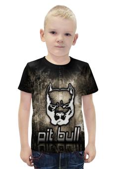 """Футболка с полной запечаткой для мальчиков """"Pit bull"""" - pitbull"""