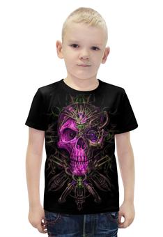 """Футболка с полной запечаткой для мальчиков """"Skull Art"""" - skull, череп, artwork, фентази, арт дизайн"""
