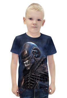 """Футболка с полной запечаткой для мальчиков """"Alien"""" - инопланетянин, фантастика, чужой, ужасы, ufo"""