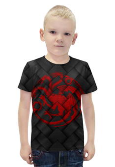 """Футболка с полной запечаткой для мальчиков """"Игра Престолов!!!"""" - dragons, герб, драконы, игра престолов, game of thrones"""