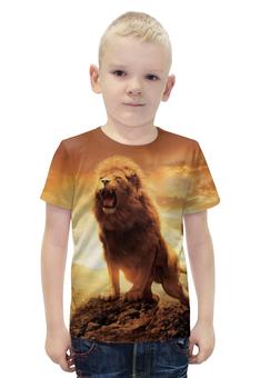 """Футболка с полной запечаткой для мальчиков """"Хроники Нарнии"""" - животные, lion, природа"""