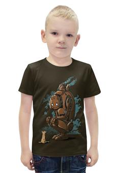"""Футболка с полной запечаткой для мальчиков """"Steampunk Robot"""" - dog, robot, steam"""
