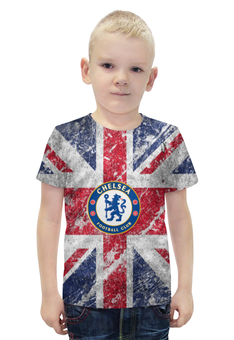 """Футболка с полной запечаткой для мальчиков """"Челси"""" - британский флаг, chelsea, ливерпуль, апл"""