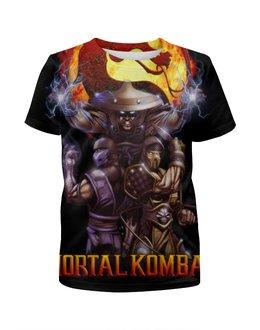 """Футболка с полной запечаткой для мальчиков """"Mortal Kombat"""" - игры, скорпион, mortal kombat, саб-зиро, рейден"""