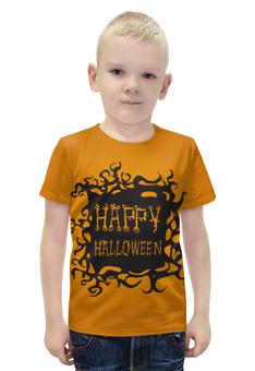 """Футболка с полной запечаткой для мальчиков """"HAPPY HALLOWEEN"""" - хэллоуин, halloween party"""