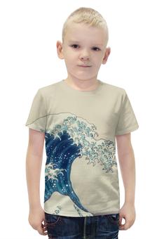 """Футболка с полной запечаткой для мальчиков """"Волна Японское Искусство Хокусай"""" - волна, japan, wave, picture, hokusai"""