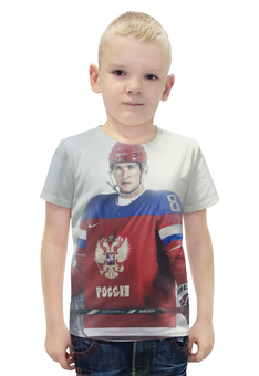 """Футболка с полной запечаткой для мальчиков """"Александр Овчекин"""" - хоккей, овечкин, вашингтон, сборная россии по хоккею"""
