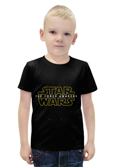 """Футболка с полной запечаткой для мальчиков """"Звездные войны: Эпизод 7 – Пробуждение силы"""" - star wars, the force awakens"""