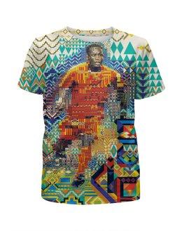 """Футболка с полной запечаткой для мальчиков """"Футбольная мозайка"""" - арт, африка"""
