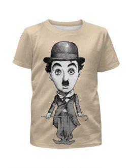 """Футболка с полной запечаткой для мальчиков """"Charlie Chaplin"""" - кино, комик, charlie chaplin, чарли чаплин, актёр"""