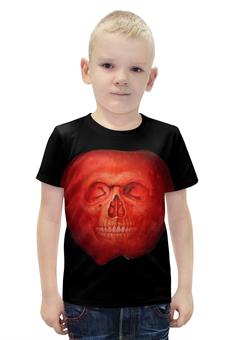 """Футболка с полной запечаткой для мальчиков """"Skull Art"""" - skull, череп, apple, яблоко, арт дизайн"""