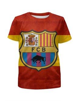 """Футболка с полной запечаткой для мальчиков """"Барселона"""" - barcelona, барселона"""