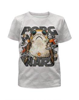"""Футболка с полной запечаткой для мальчиков """"Porg Wars Design"""" - порг, фантастика, звездные войны, космос, птичка"""