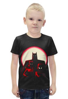 """Футболка с полной запечаткой для мальчиков """"Бэтмен"""" - batman, бэтмен, супергерой, летучая мышь, брюс уэйн"""