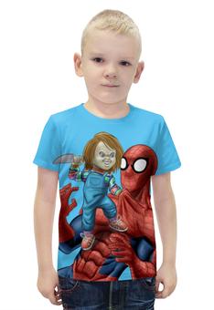 """Футболка с полной запечаткой для мальчиков """"Spider-Man Ultimate"""" - прикол, юмор, комиксы, супергерой, человек-паук"""