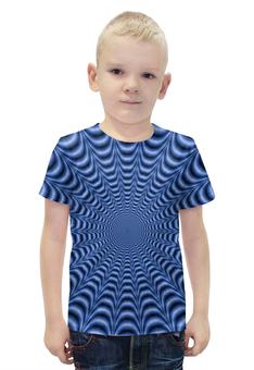 """Футболка с полной запечаткой для мальчиков """"Optical Illusion"""" - арт, стиль, дизайн, абстракция"""