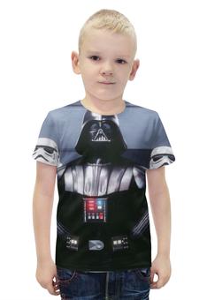 """Футболка с полной запечаткой для мальчиков """"Дарт Вейдер (Звездные Войны)"""" - star wars, darth vader, stormtrooper, lord sith"""