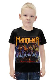 """Футболка с полной запечаткой для мальчиков """"Manowar Band"""" - heavy metal, рок музыка, хэви метал, manowar, мановар"""
