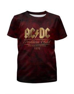 """Футболка с полной запечаткой для мальчиков """"AC/DC"""" - music, rock, золото, хард-рок, асдс"""