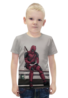 """Футболка с полной запечаткой для мальчиков """"Deadpool"""" - marvel, deadpool, марвел, дэдпул, wade wilson"""