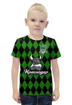 """Футболка с полной запечаткой для мальчиков """"Краснодар ПФК"""" - футбол, клуб, эмблема, краснодар"""
