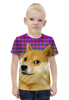 """Футболка с полной запечаткой для мальчиков """"DOGE DOGE"""" - арт, юмор, мем, стиль, doge"""