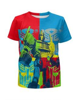 """Футболка с полной запечаткой для мальчиков """"Optimus Prime Art"""" - робот, сыну, трансформеры, оптимус, киноманам"""