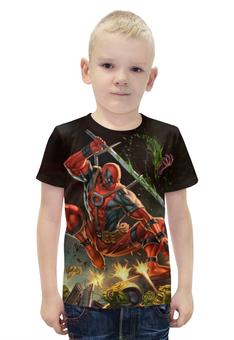 """Футболка с полной запечаткой для мальчиков """"Deadpool"""" - комиксы, супергерой, марвел, экшн, дэдпул"""