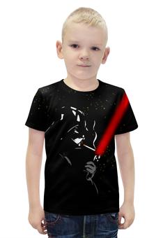 """Футболка с полной запечаткой для мальчиков """"Darth Vader smokes!!!"""" - star wars, darth vader, дарт вейдер, звёздные войны, световой меч"""