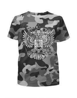 """Футболка с полной запечаткой для мальчиков """"Россия (Герб)"""" - россия, герб"""