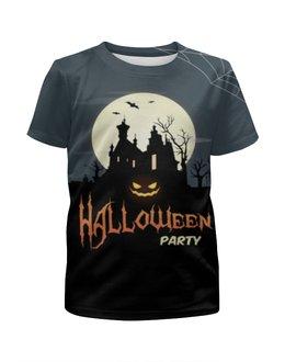 """Футболка с полной запечаткой для мальчиков """"HALLOWEEN PARTY"""" - хэллоуин, хеллоуин, halloween party"""