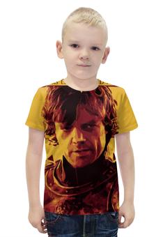 """Футболка с полной запечаткой для мальчиков """"Тирион Ланнистер , Tyrion Lannister"""" - тирион ланнистер, tyrion lannister"""