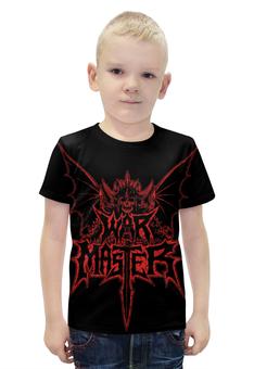 """Футболка с полной запечаткой для мальчиков """"War Master"""" - skull, череп, война, war, war master"""