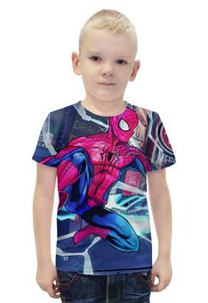 """Футболка с полной запечаткой для мальчиков """"Человек Паук"""" - spider man, питер паркер"""