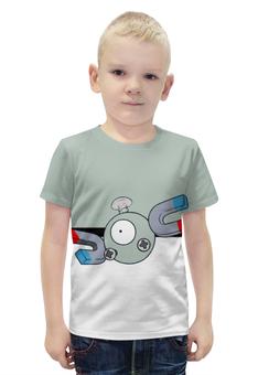 """Футболка с полной запечаткой для мальчиков """"Покемон Магнемайт"""" - pokemon, покемон, магнемайт, magnemite"""
